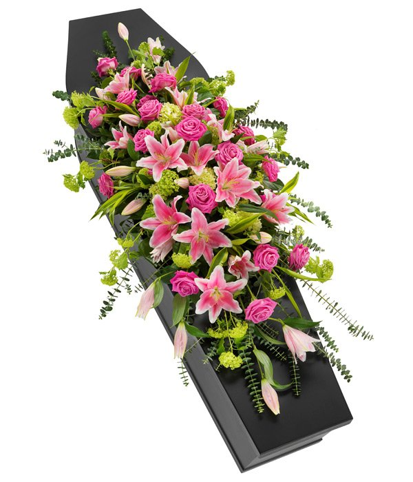 Pink Roses Coffin Sprays