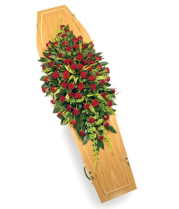 Red Roses Coffin Sprays