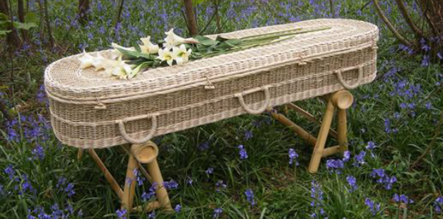 wicker coffin from bewley funeral directors