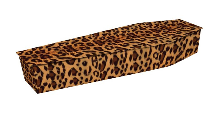 Coffin Leopard Print Picture