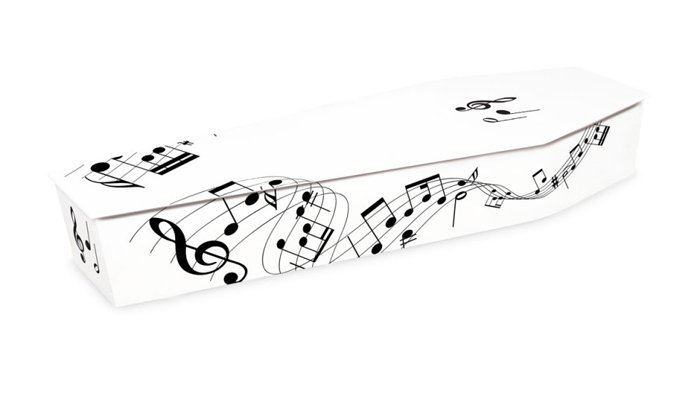 Coffin Musical Notes Picture