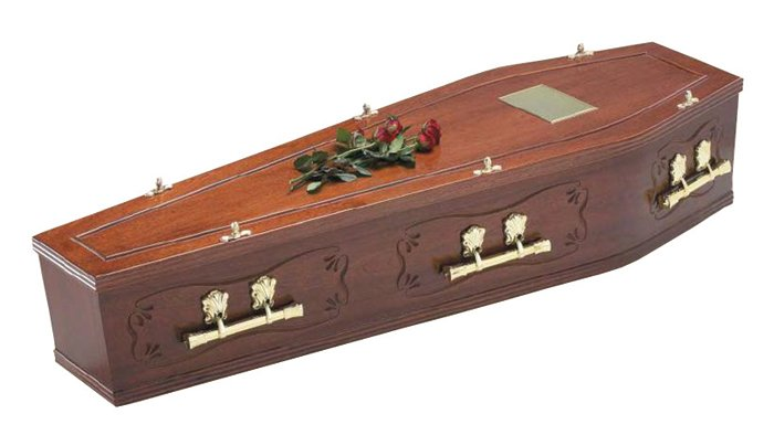 Gainsborough Mahogany Traditional Coffin