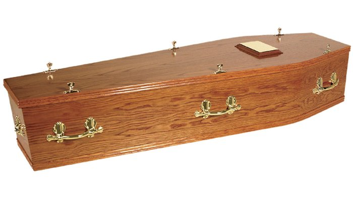 Islay Mahogany Traditional Coffin