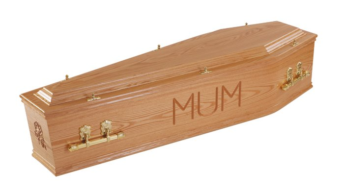 Personalised Mum Traditional Coffin
