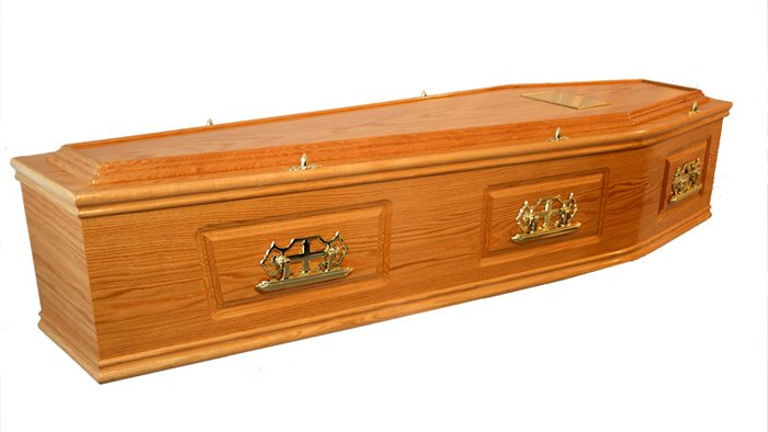 Traditional Solid Oak Coffin