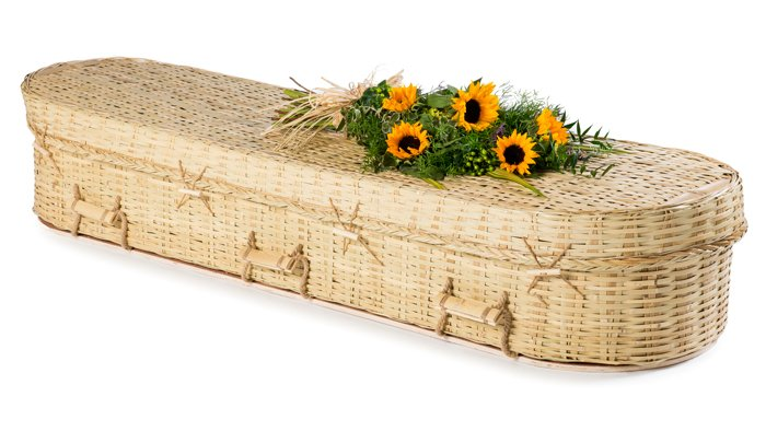 Bamboo Eco Round Coffin