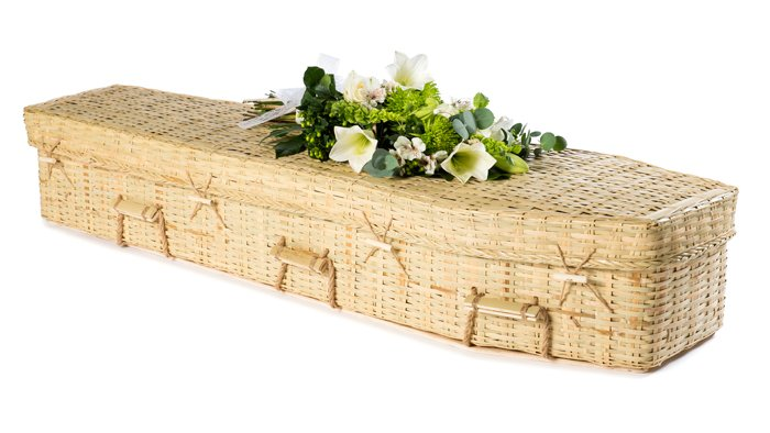 Bamboo Traditional Round Coffin