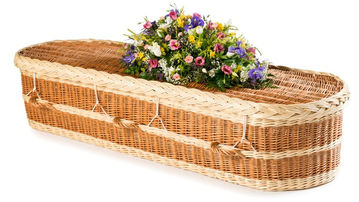 Willow English Round Buff and Natural Coffin