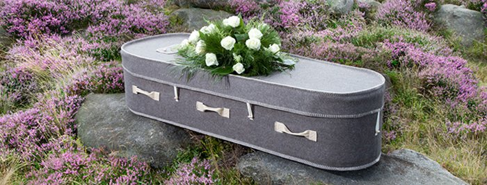 Grey Woollen Coffin