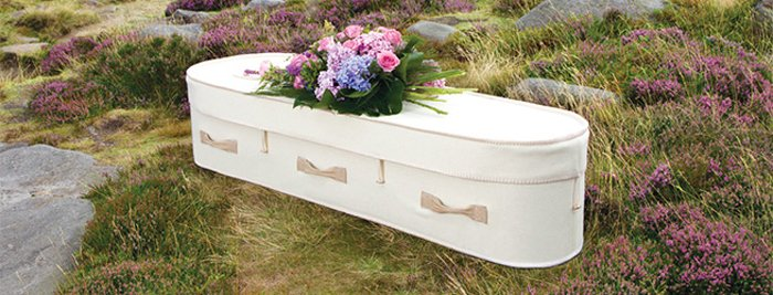 White Woollen Coffin